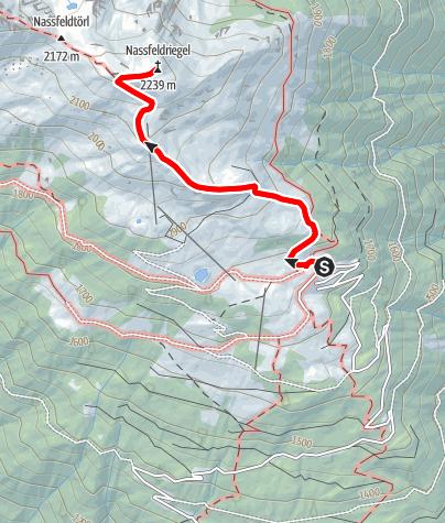 Karte / Naßfeldriegel