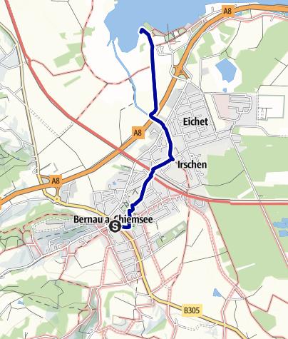 Karte / Irschener Winkel