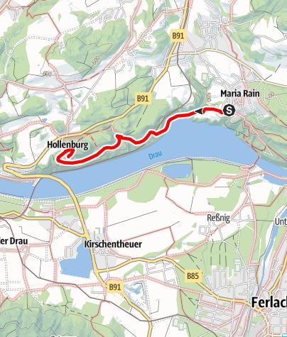 Karte / Talwanderweg Maria Rain/Hollenburg