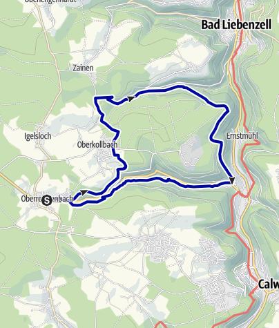 Karte / Rund um Oberreichenbach