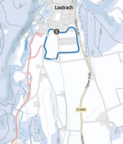 Karte / Dorfloipe mit Skatingspur