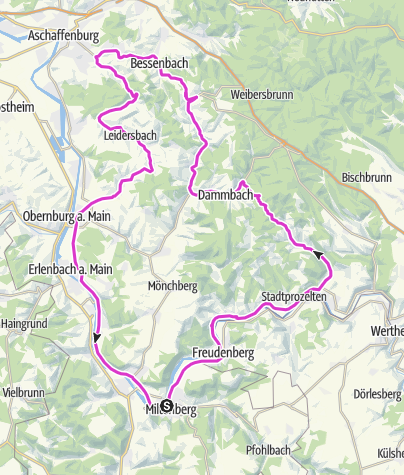 Karte / Vom Main in den Spessart zum Wasserschloß Mespelbrunn