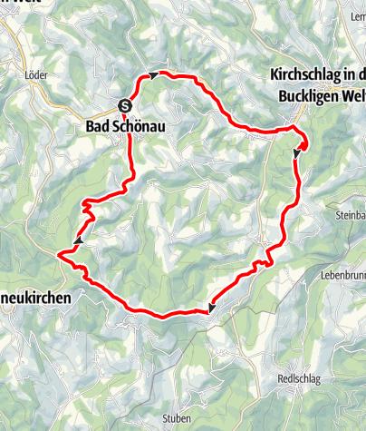 Karte / Mountainbike Strecke Herz-Kreislauf