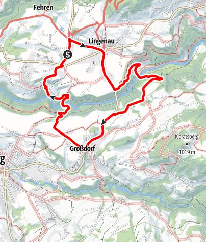 Karte / Wege zum Wasser: Wenn aus Wasser Steine werden – Naturschauspiel Quelltuff in Lingenau