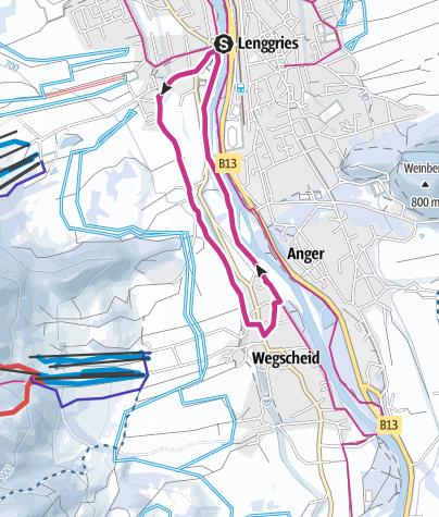 Karte / Lenggrieser Höhenweg nach Wegscheid
