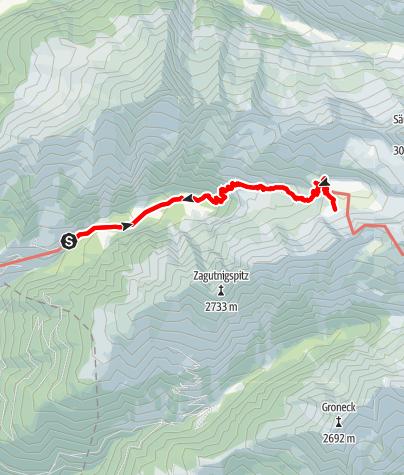 Karte / Blockgletscherweg Dösental