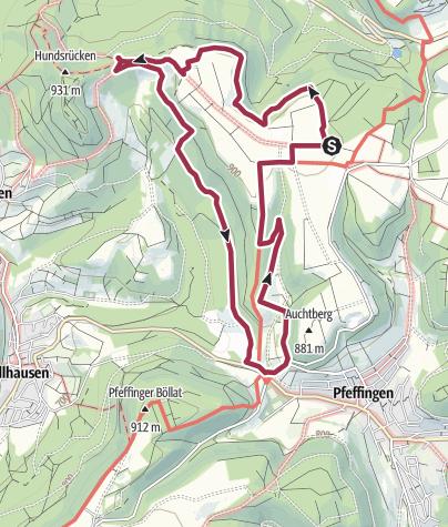 Karte / Traufgang Wiesenrunde in Albstadt