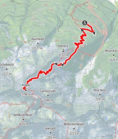 Karte / Polinik von Obervellach
