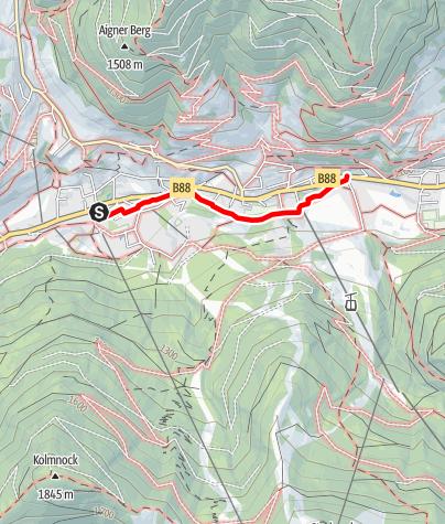Karte / Bad Kleinkirchheim - Spaziermeile