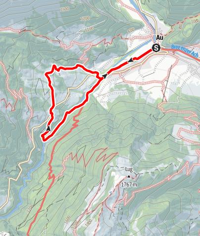 Map / Au-Schoppernau | delicate plants and wooden huts