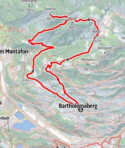 Karte / Davennaspitze - fantastischer Ausblick mit ruhigem Flair