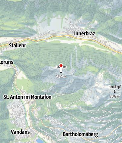 Karte / Gipfel Davenna