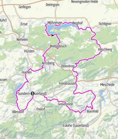 Karte / Bike Arena Sauerland - Drei-Seen-Schleife