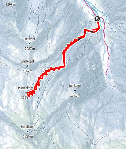 Karte / Hüttschlag: Plattenkogel (2.273 m)