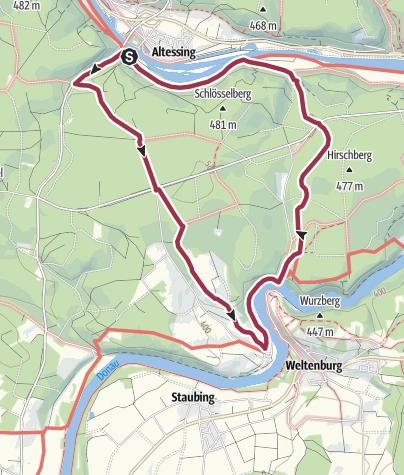 Map / Donaudurchbruch - Weltenburger Wanderweg X: Donau-Altmühl-Rundweg