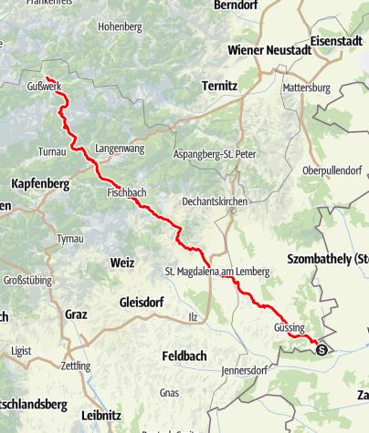 Karte / Ungarischer Mariazeller Weg über Pöllauberg