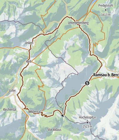 Karte / MTB: 02 - Rund um die Reiter Alm