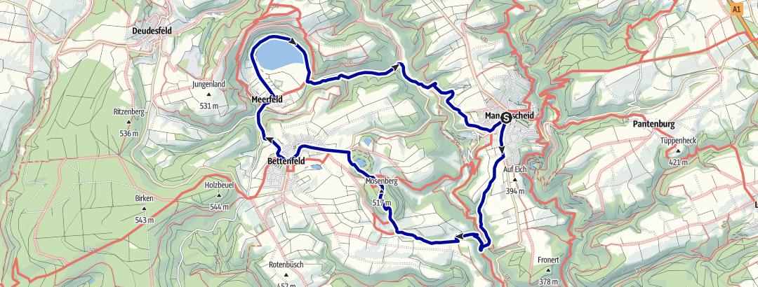 Karte / Windsborn-Bergkratersee und Meerfelder Maar