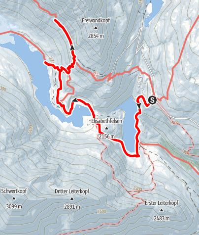 Karte / Gletscherweg zur Pasterze mit Gamsgrubenweg
