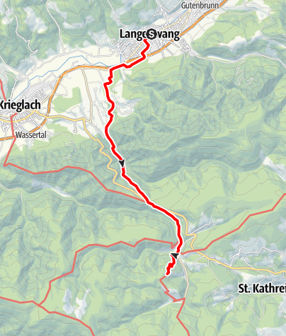 Karte / Auf den Spuren Peter Roseggers - Der Christtagsfreudenweg