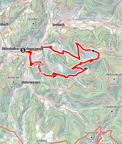 Map / Ottenhöfen im Schwarzwald - Genießerpfad Karlsruher Grat (OFFIZIELLE TOUR)