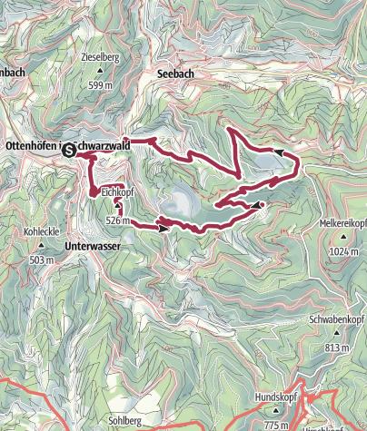 Karte / Ottenhöfen im Schwarzwald - Genießerpfad Karlsruher Grat (OFFIZIELLE TOUR)