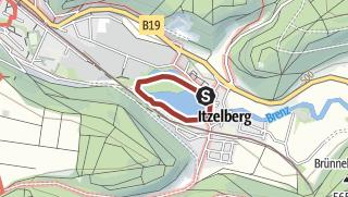 Karte / See-Rundweg Itzelberg