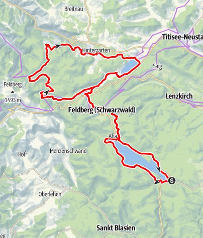 Map / Seenradweg Hochschwarzwald