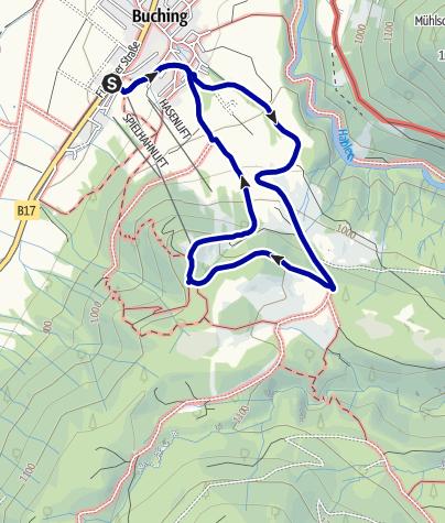 Kaart / Buchenberg-Rundweg