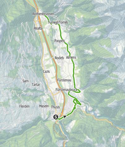 Karte / Thusis - Rothenbrunnen