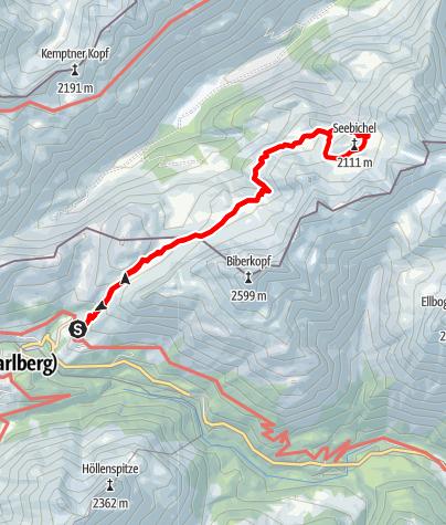 Karte / Rappenseehütte - Mutzentobel