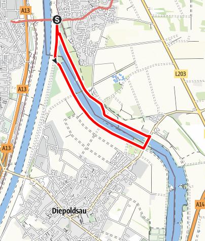 Karte / Barrierefrei: Am Alten Diepoldsauer Rhein – Rundwanderung Lustenau-Schmitter