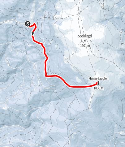 Karte / Von der Steinerhütte zum Kleinen Sauofen