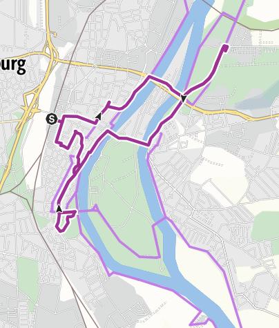 Karte / Magdeburg an der Elbe mit dem Fahrrad entdecken