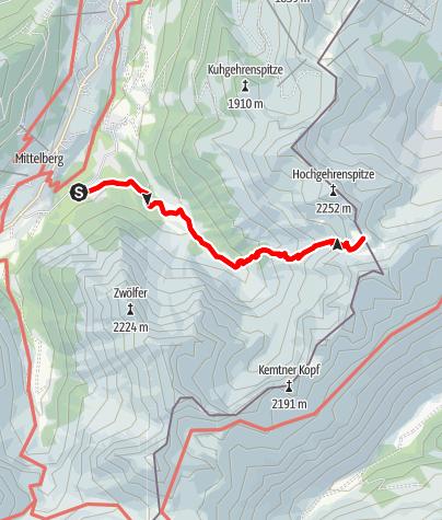 Karte / Zur Fiderepasshütte