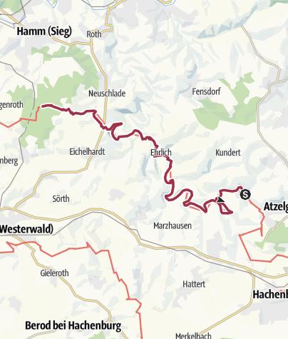 Karte / WesterwaldSteig  10. Etappe Limbach - Kloster Marienthal (Ost-West)