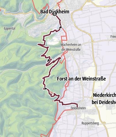 Map / Pfälzer Weinsteig Stage 3: Bad Dürkheim - Deidesheim