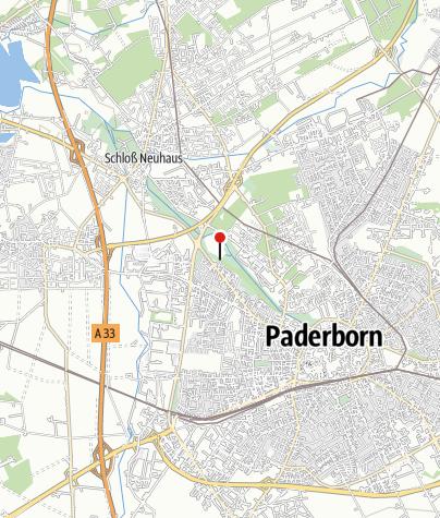 Karte / Paderborn: Spielplatz am Padersee