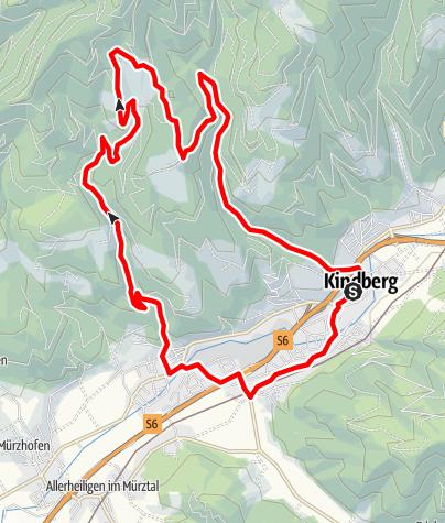 Karte / k4 Mountainbikestrecke Kindberg 4
