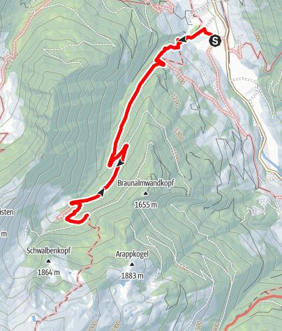 Karte / Großarl: Bachalm