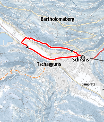 Kaart / Rundgang über das Kloster Gauenstein