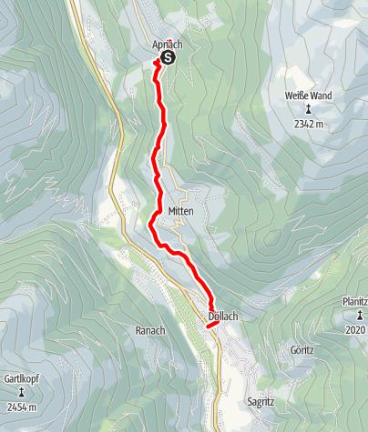 Karte / Apriacher Kirchweg