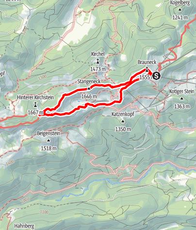 Karte / Brauneck: Großer Höhenweg - Aussichtstour über dem Isartal