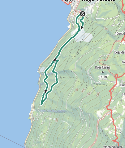 Karte / Busatte-Tempesta, ein Klassiker unter den Wanderwegen im Garda Trentino