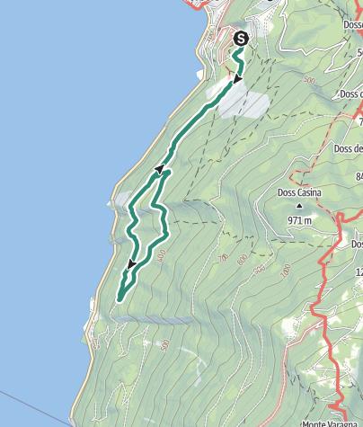 Cartina / Sentiero Busatte Tempesta, un classico del Garda Trentino