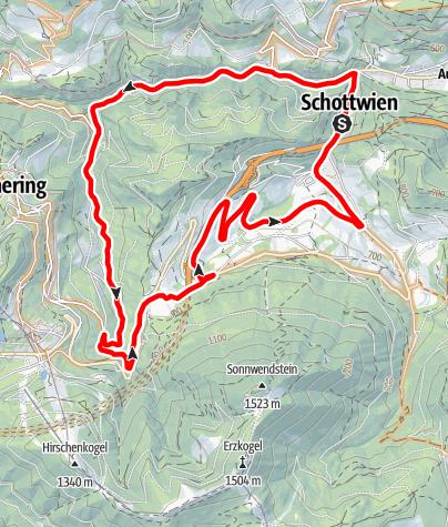 Karte / Adlitzgräben-Strecke