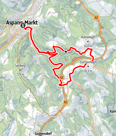 Térkép / Fuchsenriegel-Strecke