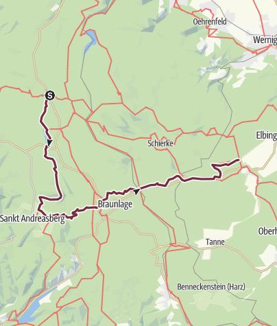 Karte / Harzer-Hexen-Stieg - Brockenumgehung