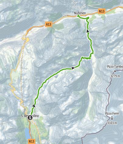 Cartina / San Bernardino - Val Vignun - Nufenen