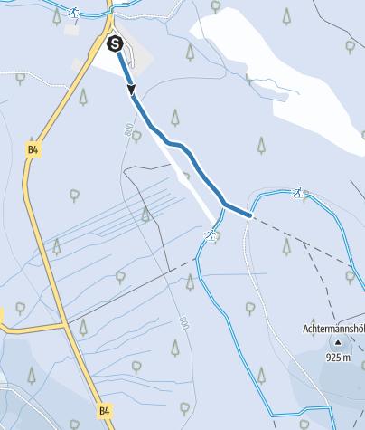 Karte / Verbindung Oderbrück - Rundkurs Achtermann